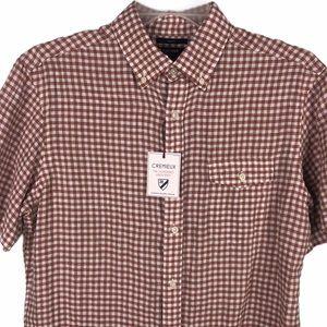 New! Daniel Cremieux Linen Button Shirt Red L Slim